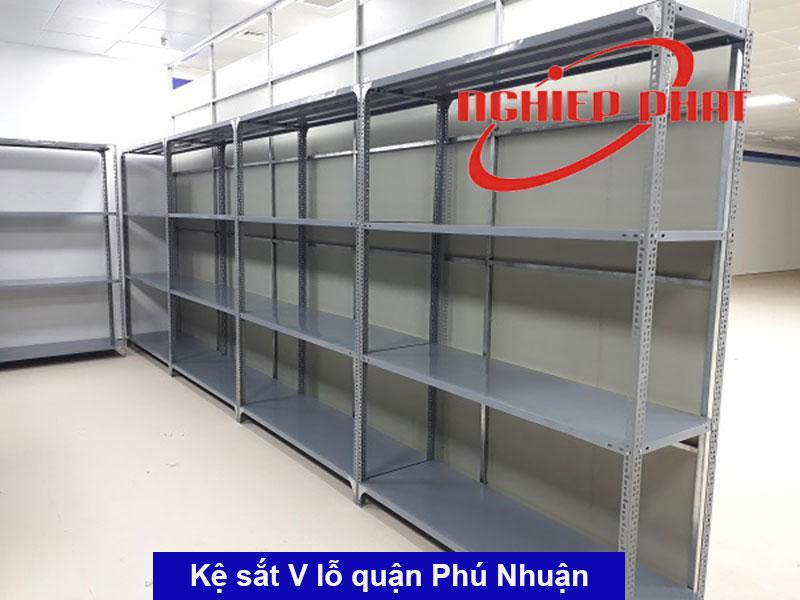 [TPHCM] Kệ sắt V lỗ Quận Phú Nhuận, Tân Bình, Tân Phú giao hàng miễn phí